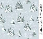 seamless vintage christmas... | Shutterstock .eps vector #509369380