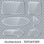 vector glass design elements... | Shutterstock .eps vector #509369389