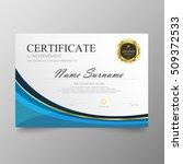 certificate template awards...   Shutterstock .eps vector #509372533