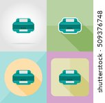 service printer flat icons... | Shutterstock .eps vector #509376748