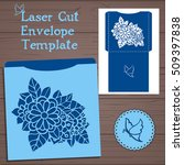 lasercut vector wedding... | Shutterstock .eps vector #509397838