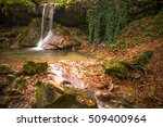 amazing waterfall in colorful... | Shutterstock . vector #509400964