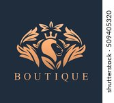 Luxury Logo With Lion Head...