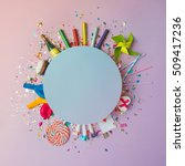 colorful celebration background ... | Shutterstock . vector #509417236