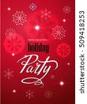 merry christmas party... | Shutterstock .eps vector #509418253