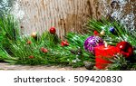 christmas tree candle toys ... | Shutterstock . vector #509420830