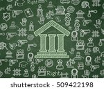 law concept  chalk green... | Shutterstock . vector #509422198