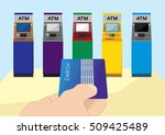 credit card in hand hand... | Shutterstock .eps vector #509425489