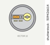 line flat vector icon with... | Shutterstock .eps vector #509426614