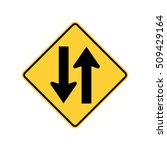 two way traffic sign  u.s. two... | Shutterstock .eps vector #509429164