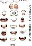 cartoon mouths and eyes. vector ... | Shutterstock .eps vector #509436208
