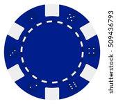 single blue poker casino chips... | Shutterstock .eps vector #509436793