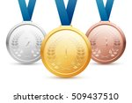 shiny vector gold  silver and... | Shutterstock .eps vector #509437510