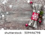 christmas table place setting.... | Shutterstock . vector #509446798