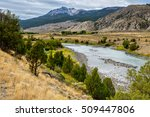 View of the Yellowstone River in Montana