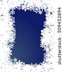 snowflakes frame christmas card. | Shutterstock .eps vector #509452894