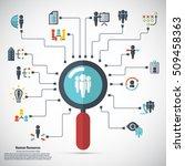 human resource   conceptual...   Shutterstock .eps vector #509458363