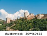 granada   the alhambra palace... | Shutterstock . vector #509460688