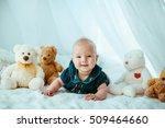 beautiful portrait of... | Shutterstock . vector #509464660