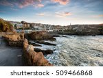 the seaside town of ilfracombe... | Shutterstock . vector #509466868