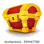 cartoon treasure chest for game ...