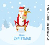 christmas illustration of santa ... | Shutterstock .eps vector #509467879