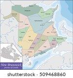map of new brunswick | Shutterstock .eps vector #509468860