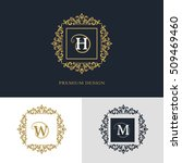 monogram design elements ... | Shutterstock .eps vector #509469460