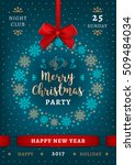 poster merry christmas and... | Shutterstock .eps vector #509484034