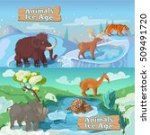 beasts ice age horizontal... | Shutterstock .eps vector #509491720