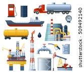 oil industry isolated...   Shutterstock .eps vector #509492140