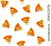 seamless pattern with pizza... | Shutterstock .eps vector #509512978