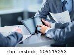 businessman holding digital... | Shutterstock . vector #509519293