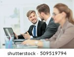 business people working on... | Shutterstock . vector #509519794