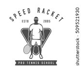 vintage tennis logo  badge ... | Shutterstock . vector #509521930