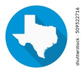 texas state map flat icon with... | Shutterstock .eps vector #509522716