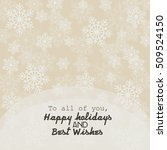 christmas card with snowflakes   Shutterstock .eps vector #509524150