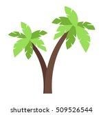 Green Coconut Palm Icon...