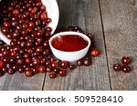 cranberry sauce and scattered