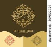 church logo. christian symbols. ... | Shutterstock .eps vector #509532724