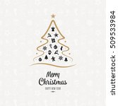 merry christmas tree elements... | Shutterstock .eps vector #509533984