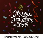falling paper confetti for 2017 ... | Shutterstock .eps vector #509539090