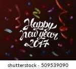 falling paper confetti for 2017 ... | Shutterstock .eps vector #509539090