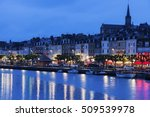 Small photo of Panorama of Trouville-sur-Mer. Trouville-sur-Mer, Normandy, France.