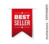 best seller red ribbon vector   Shutterstock .eps vector #509540890