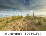 Sandy Path To The Beach. On Th...