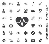 heartbeat vector icon. medical... | Shutterstock .eps vector #509546374