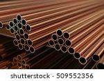 copper metal. warehouse copper...   Shutterstock . vector #509552356