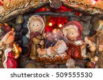 beautiful nativity scene with... | Shutterstock . vector #509555530