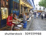 paris style street cafe on... | Shutterstock . vector #509559988